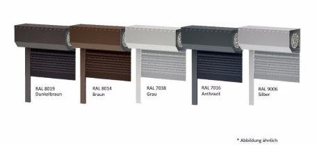 Vorbaurollladen rolladen rollo standard silber ral 9006 for Ral 9006 fenster